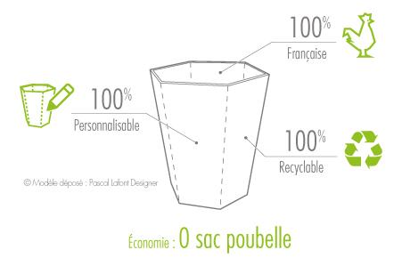 corbeille de bureau en carton eco-design