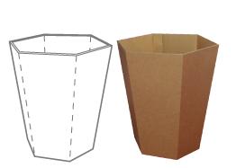 corbeille papier en carton cologique pour bureaux h tels. Black Bedroom Furniture Sets. Home Design Ideas