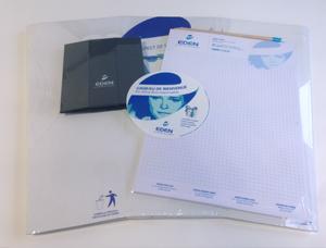 Kit office Eco responsable - Corbeille de bureau en carton, pot à crayon en carton, bloc papier FSC, crayon à papier