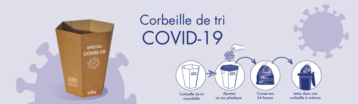 Corbeille de tri COVID-19